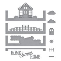 Spellbinders - Make a Scene Collection - Etched Dies - Cozy Home Scene