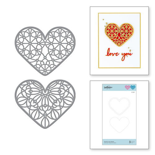 Spellbinders - Expressions of Love Collection - Etched Dies - Forever Love Hearts