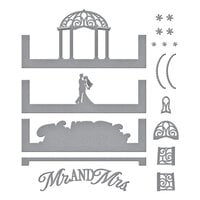 Spellbinders - Make a Scene Collection - Etched Dies - Wedded Bliss Scene