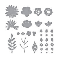 Spellbinders - Simply Perfect Collection - Etched Dies - Layered Blooms