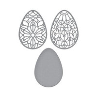 Spellbinders - Expressions of Spring Collection - Etched Dies - Forever Spring Eggs