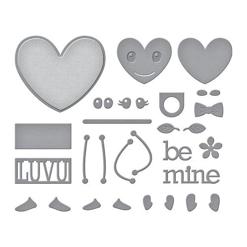 Spellbinders - Expressions of Love Collection - Etched Dies - Dancin' Hearts