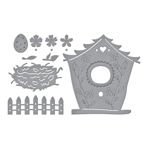 Spellbinders - Birdhouses Through The Seasons Collection - Dies - Build A Spring Birdhouse