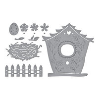 Spellbinders - Birdhouses Through The Seasons Collection - Dies - Build A Spring Birdhouse
