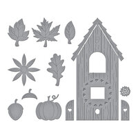 Spellbinders - Birdhouses Through The Seasons Collection - Dies - Build A Fall Birdhouse