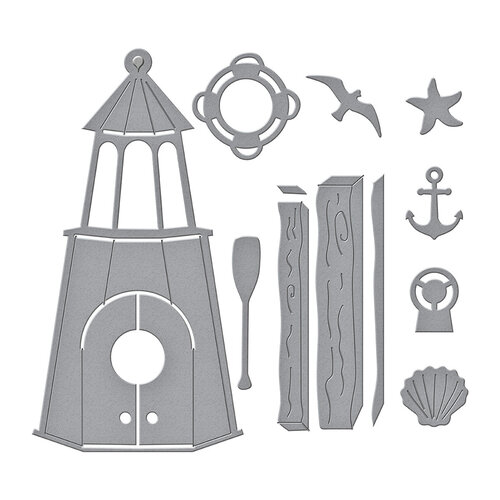 Spellbinders - Birdhouses Through The Seasons Collection - Dies - Build A Summer Birdhouse