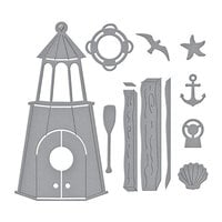 Spellbinders - Birdhouses Through The Seasons Collection - Dies - Build A Summer Birdhouse