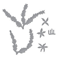 Spellbinders - Susan's Holiday Flora Collection - Etched Dies - Christmas Cactus