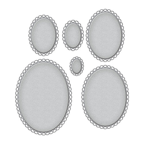 Spellbinders - Truly Yours Collection - Etched Dies - Elliptical Ovals