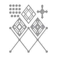 Spellbinders - Etched Dies - Slimline - Kaleidoscope Argyle