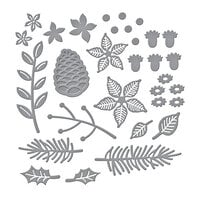 Spellbinders - Tis The Season Collection - Etched Dies - Christmas Blooms