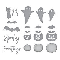 Spellbinders - SB Open House Collection - Etched Dies - Halloween - Open House Boo!