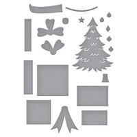 Spellbinders - Add To Cart Collection - Dies - Christmas - Shopping Cart Holiday And Presents