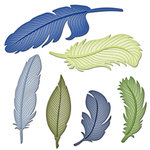 Spellbinders - Shapeabilities Collection - Die - Feathers