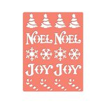 Spellbinders - Holiday Collection - Christmas - Expandable Pattern Die - Holiday Greetings
