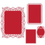 Spellbinders - Classic Collection - Nestabilities Die - Labels Forty Decorative Accents