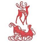 Spellbinders - Holiday Collection - Christmas - Shapeabilities Die - Reindeer and Sleigh
