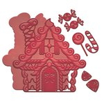 Spellbinders - Holiday Collection - Christmas - Shapeabilities Die - Gingerbread House