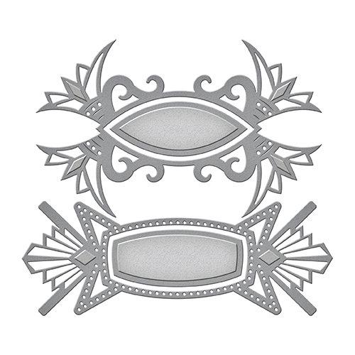 Spellbinders - Art Deco Collection - Shapeabilities Die - Art Deco Tags