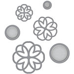 Spellbinders - Wedding Collection - Shapeabilities Die - Lacework Button Flowers