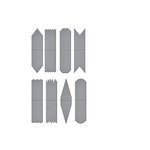Spellbinders - Tammy Tutterow Collection - Shapeabilities Die - Shortie Tabs