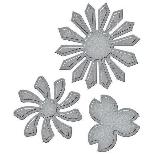 Spellbinders - Tammy Tutterow Collection - Shapeabilities Die - Pinwheel Posies