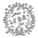Spellbinders - Holiday Collection - Christmas - Shapeabilities Die - Holly Berry Wreath
