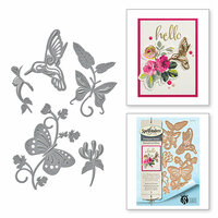 Spellbinders - Botanical Bliss Collection - Shapeabilities Die - Botanical Flutters
