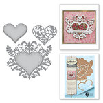 Spellbinders - Botanical Bliss Collection - Shapeabilities Die - Botanical Heart Pair