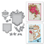 Spellbinders - Botanical Bliss Collection - Shapeabilities Die - Beautiful Banner Basket