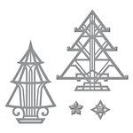 Spellbinders - Holiday Collection - Christmas - Shapeabilities Die - Art Deco Trees