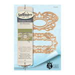 Spellbinders - Art Nuveau Collection - Shapeabilities Die - Floral Swirls Tags