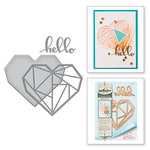 Spellbinders - Wild and Free Collection - Shapeabilities Die - Hello Geo Heart