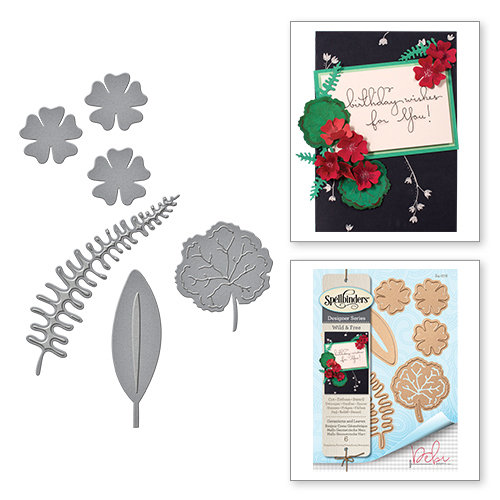 Spellbinders - Wild and Free Collection - Shapeabilities Die - Geraniums and Leaves