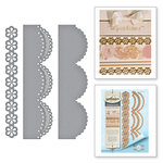 Spellbinders - Graceful Borders Collection - Card Creator - Die - Graceful Scallops