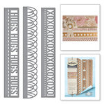 Spellbinders - Graceful Borders Collection - Card Creator - Die - Graceful Sweet Words