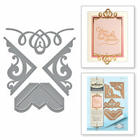 Spellbinders - Graceful Borders Collection - Card Creator - Die - Graceful Corners One