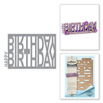 Spellbinders - Celebrate the Day Collection - Shapeabilities Dies - Happy Birthday Easel