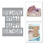 Spellbinders - Celebrate the Day Collection - Shapeabilities Dies - Happy Birthday Pop-Up
