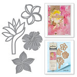 Spellbinders - Tropical Paradise Collection - Dies - Tropical Florals