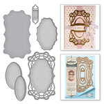 Spellbinders - Vintage Elegance Collection - Dies - Curled Grace Oval