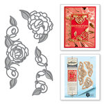 Spellbinders - Rouge Royale Deux Collection - Dies - Camellia Accents