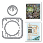 Spellbinders - The Altered Page Collection - Etched Dies - Drip Dry