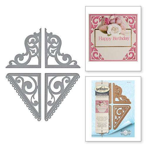 Spellbinders - Graceful Borders Collection - Card Creator - Die - Graceful Corners Two