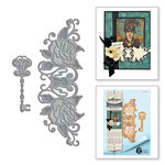 Spellbinders - Rebel Rose Collection - Dies - Rebel Rose Lock and Key