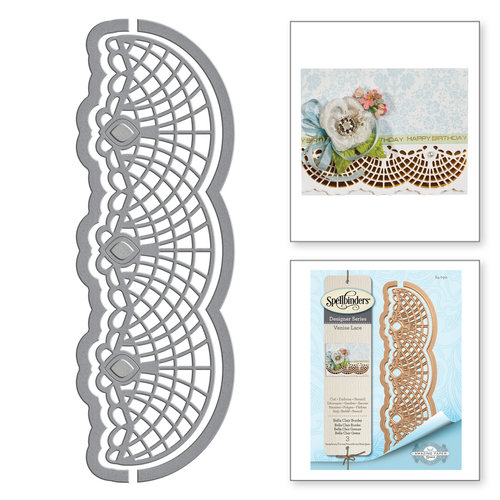 Spellbinders - Venise Lace Collection - Dies - Bella Clair Border