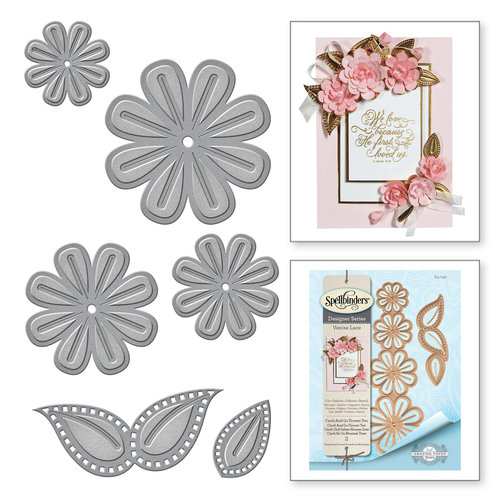 Spellbinders - Venise Lace Collection - Dies - Cinch and Go Flowers Two