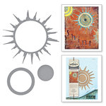 Spellbinders - The Altered Page Collection - Etched Dies - Sunburst