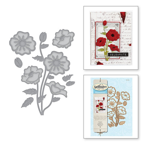 Spellbinders - Shapeabilities Die - Poppies