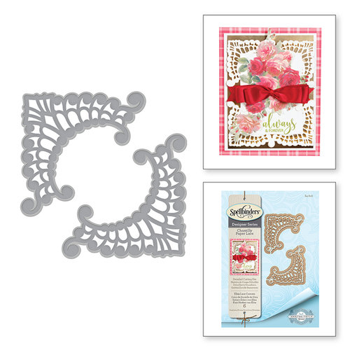 Spellbinders - Chantilly Paper Lace Collection - Shapeabilities Dies - Eliza Lace Corners